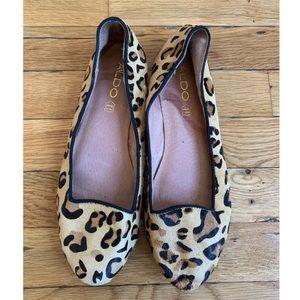 Aldo Leopard Print Flats Size 8